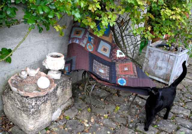 Patchwork fautueil chat