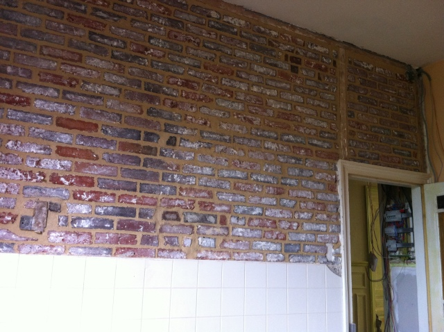 mur de briques fini