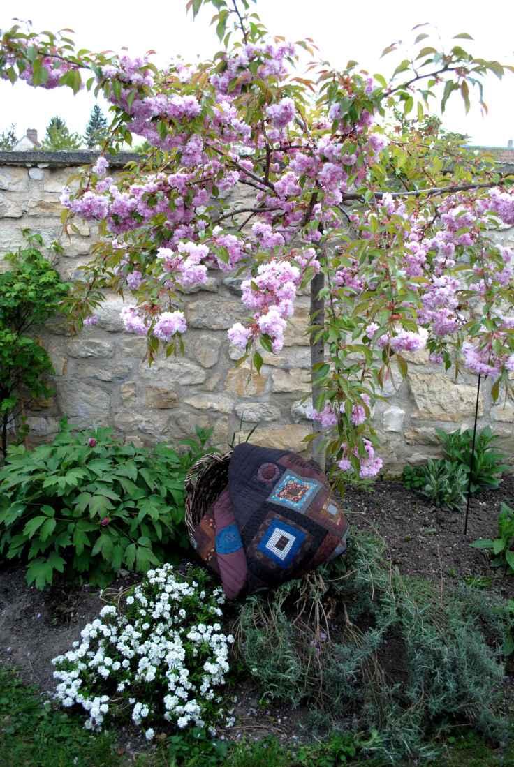 Patchwork Prunus Panier