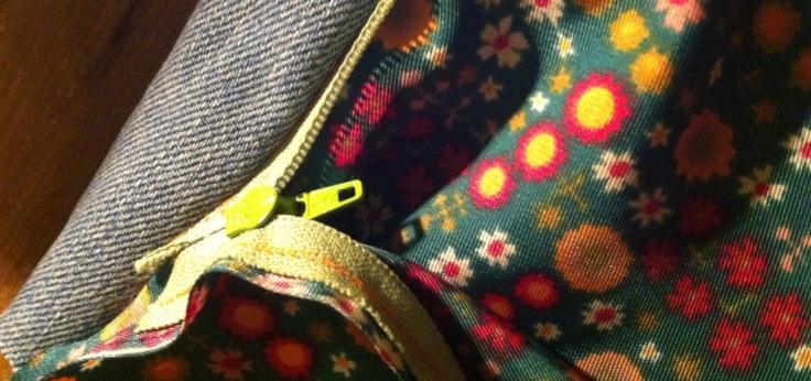 DIY trousse doublure zip