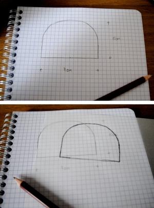 DIY T-shirt Bonnet Lunettes - etape 1