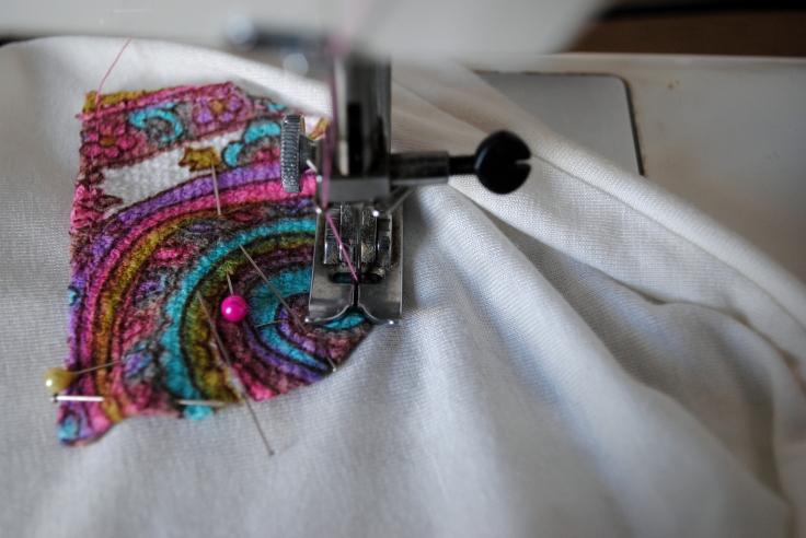 DIY T-shirt Bonnet Lunettes - etape 4-2