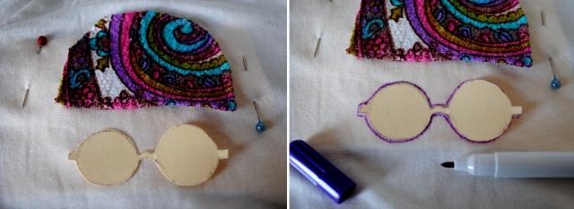 DIY T-shirt Bonnet Lunettes - etape 5-2