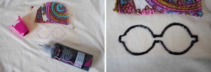 DIY T-shirt Bonnet Lunettes - etape 6