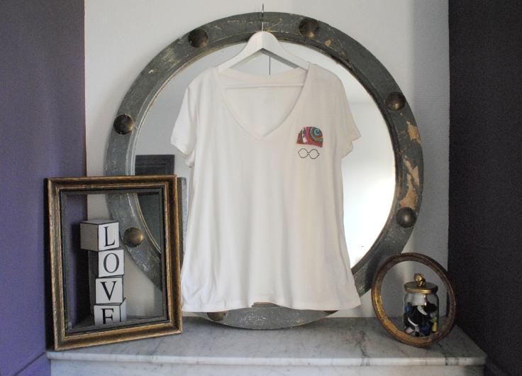 DIY T-shirt Bonnet Lunettes - etape 7