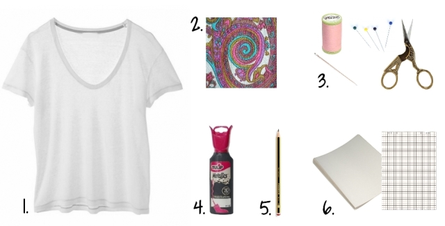 DIY T-shirt Bonnet Lunettes - outils