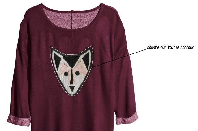 sweat loup - couture loup