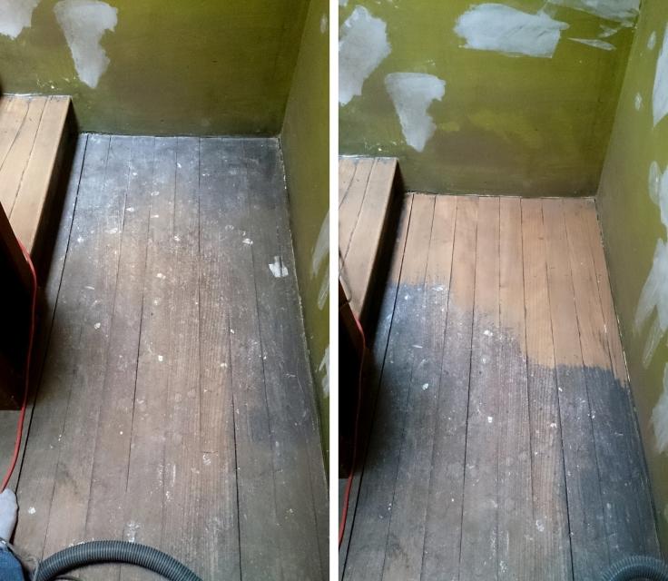 Aménagement Grenier - poncage escalier
