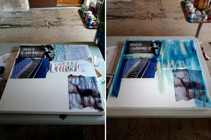 atelier peinture epicerie d'art - collage