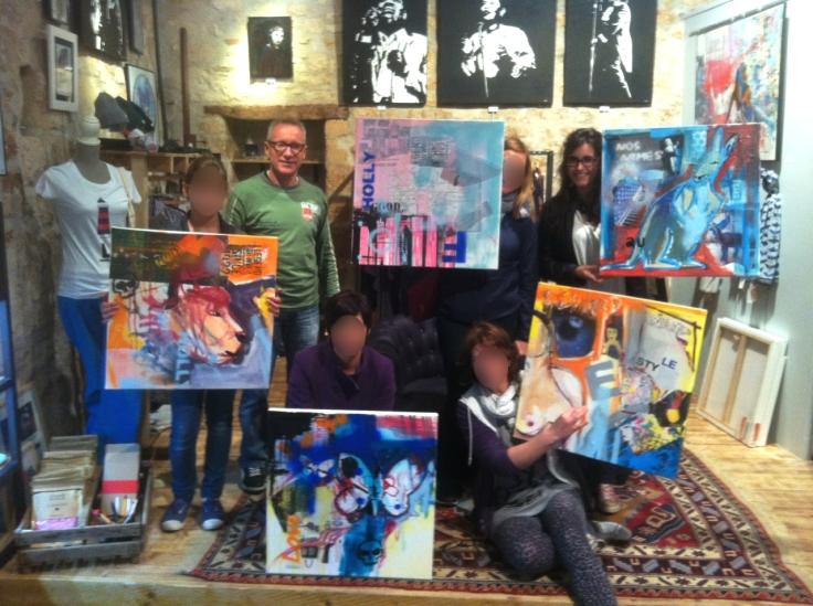 atelier peinture Epicerie d'Art - groupe