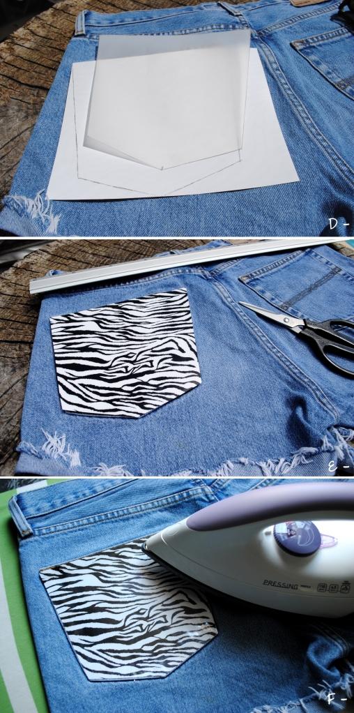 DIY Short Pocket Zebre - 0456