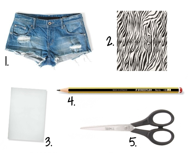 DIY Short Pocket Zebre - fournitures