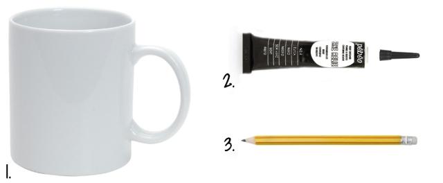 DIY Tire Mug - fournitures