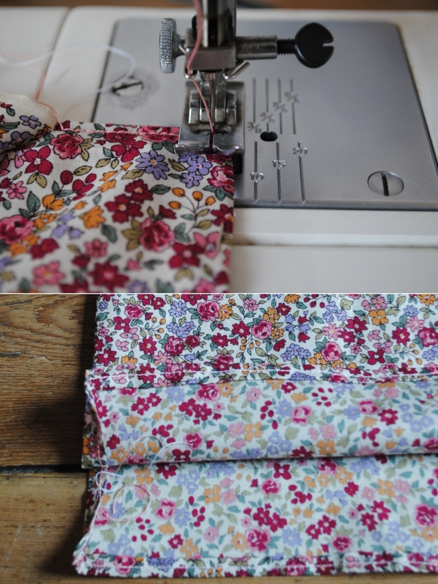 DIY T-shirt Froufrou - couture ourlet bas