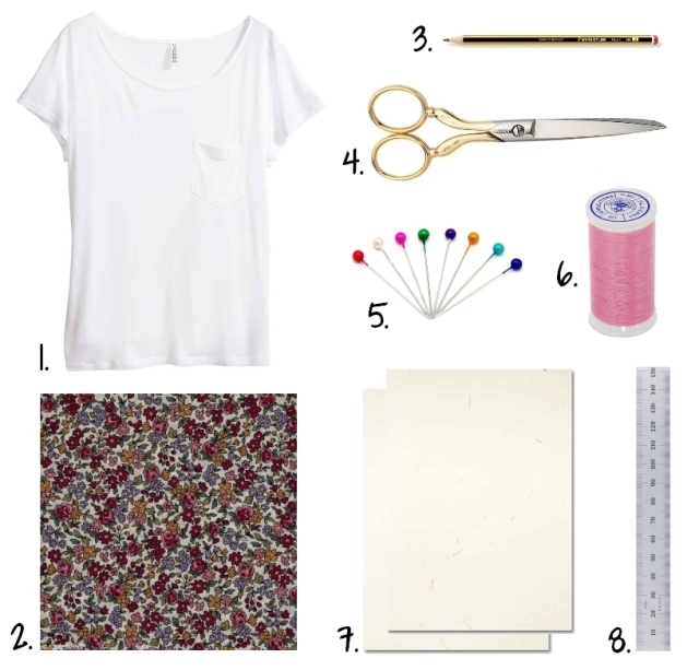 DIY T-shirt Froufrou - fournitures