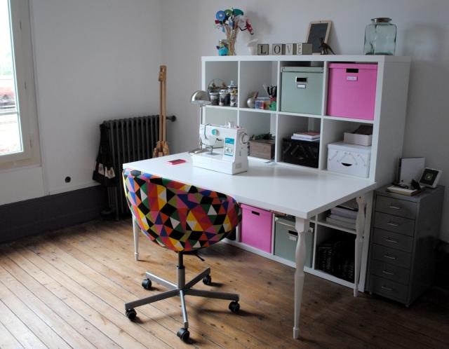 Atelier DIY Couture - atelier couture kallax ikea 05