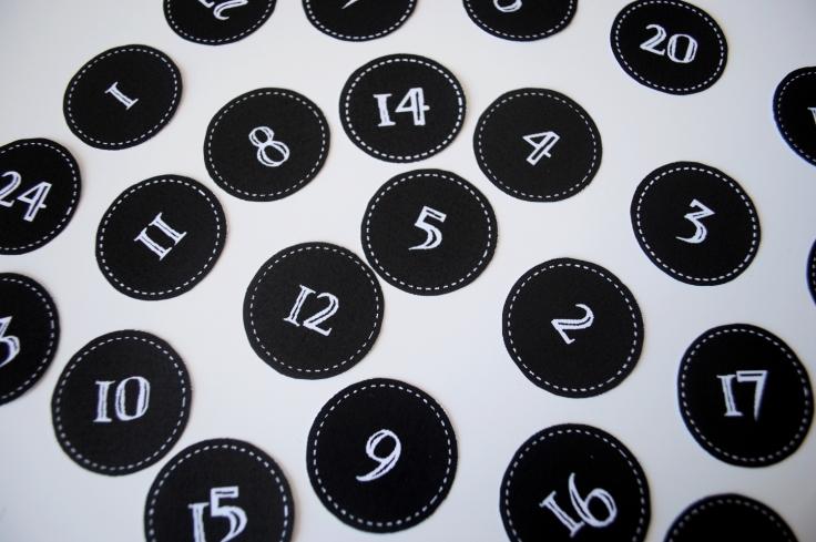 diy calendrier de l'avent 08 numéros