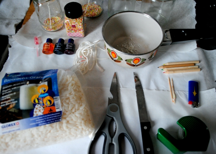 DIY Bougies homemade - plan de travail