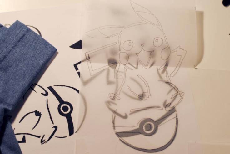 DIY T-shirt Pikachu - 01
