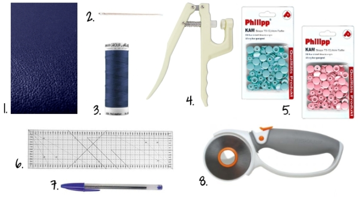 DIY - Porte Carte Simili Cuir Pression Kam - Fournitures