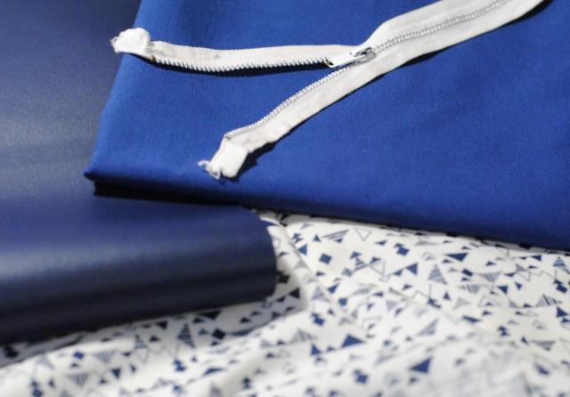 DIY - Couture Pochette Bleue Zippée 01