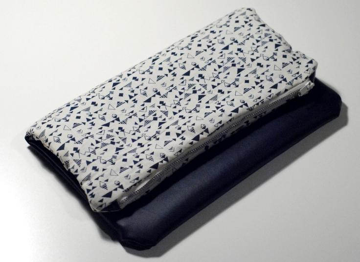 DIY - Couture Pochette Bleue Zippée 05
