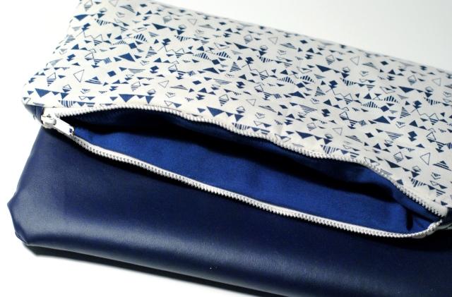 DIY - Couture Pochette Bleue Zippée 09