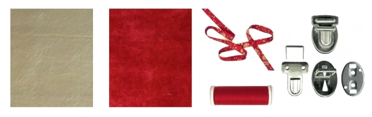 DIY Pochette Cartable Suedine - fournitures