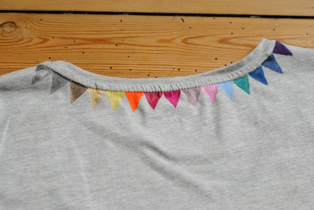 DIY T-shirt Fanions 11