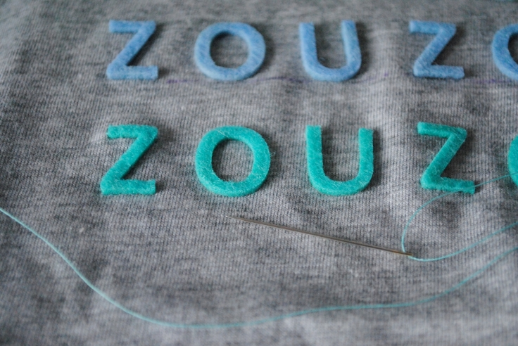 DIY_Customisation T-shirt Lettres Feutrine - 03