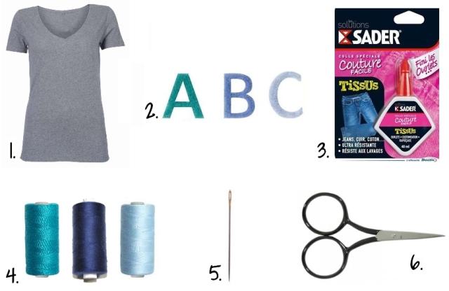 DIY_Customisation T-shirt Lettres Feutrine - Fournitures