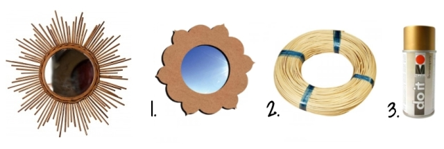 Selection Soldes Creavea Miroir Rotin Soleil