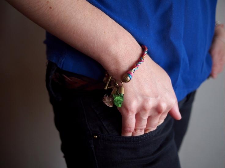 DIY Bracelet pompons 07