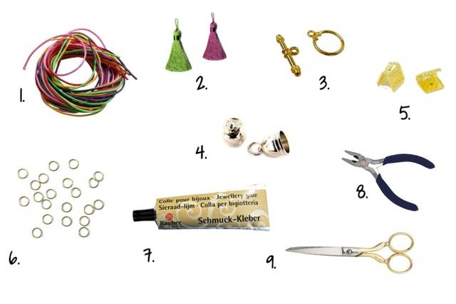 fournitures bracelet pompons