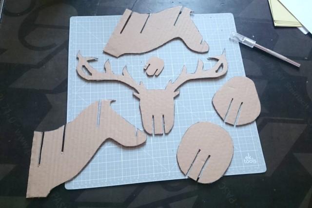 DIY renne en carton 03