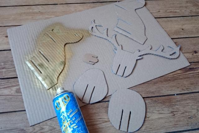 DIY renne en carton 04