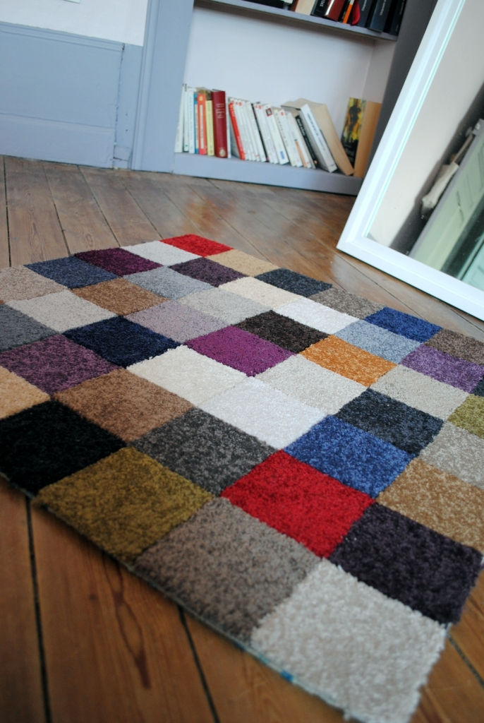 DIY tapis multicolore 07