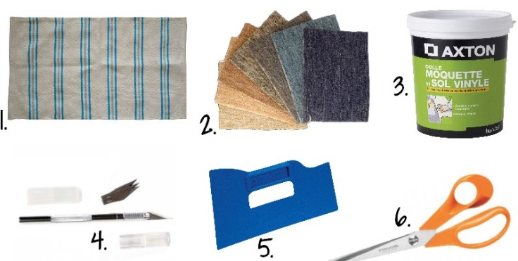 Fournitures - DIY tapis multicolore