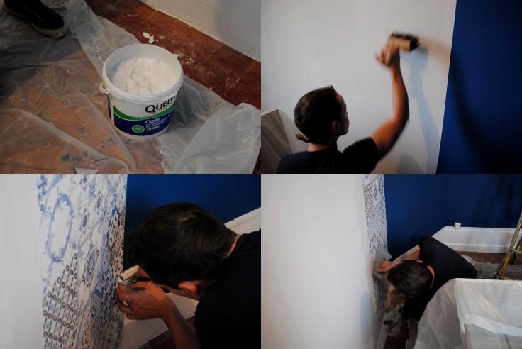 Papier peint azulejos 02