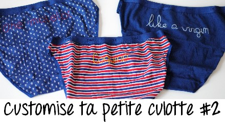 vedette - DIY - customisation culottes pocket Dim