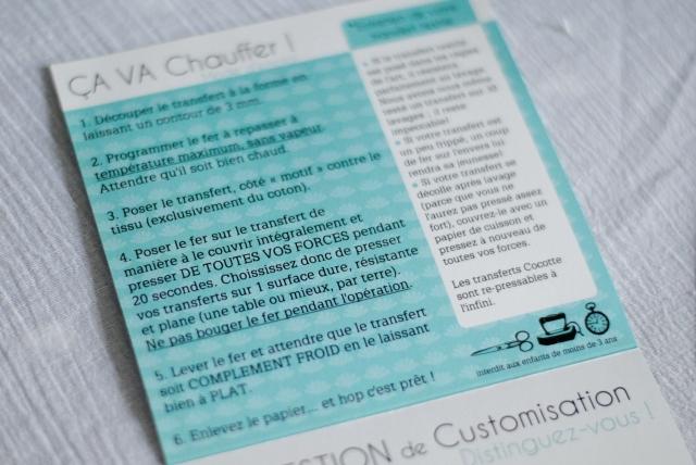 Transfert textile Cocotte 04