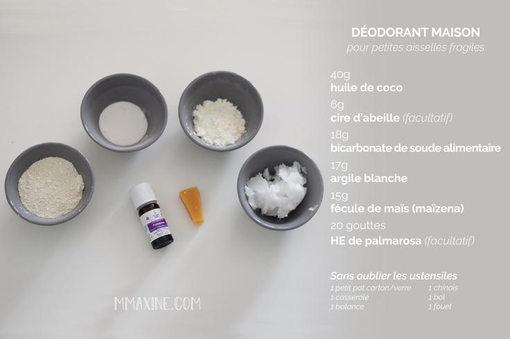 Recette deodorant fait maison liste ingrédients