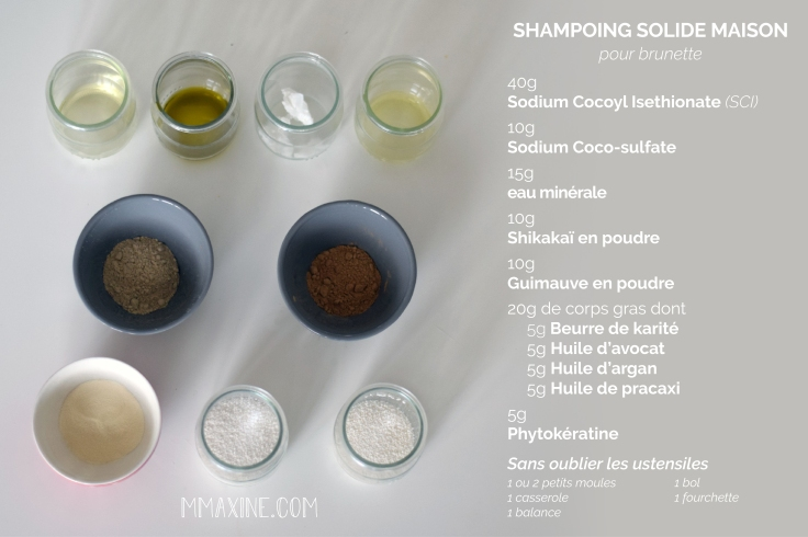 recette ingredients shampoing solide maison