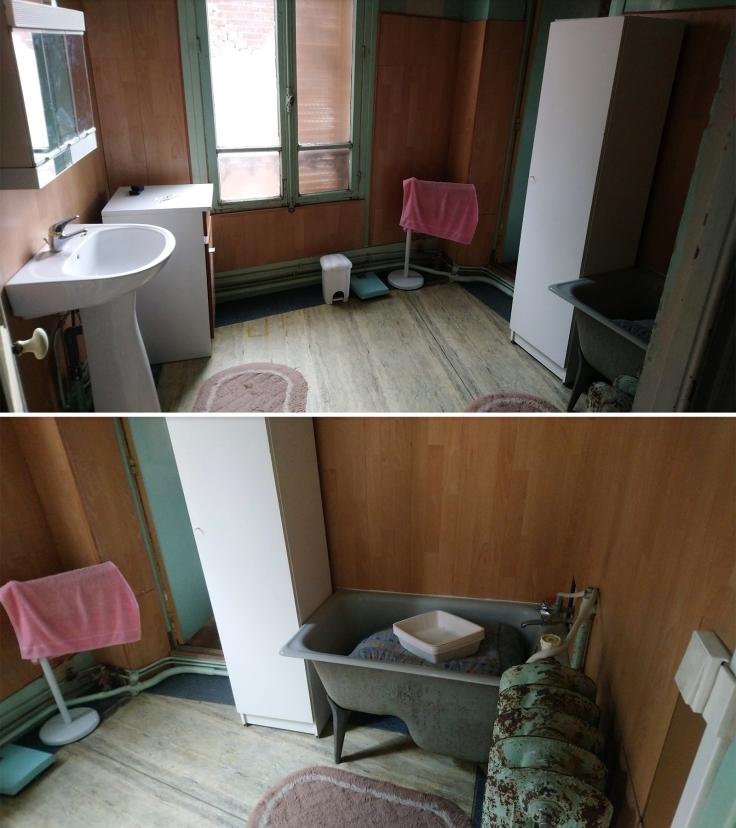 Inspiration salle de bain carrelage zellige - avant