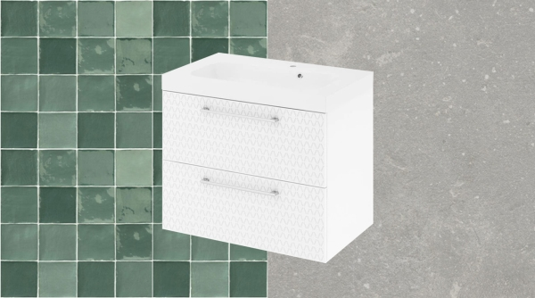 Inspiration salle de bain carrelage zellige image une