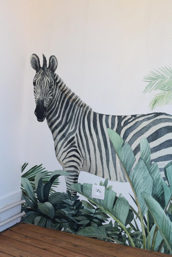 Chambre jungle papier peint - après 02