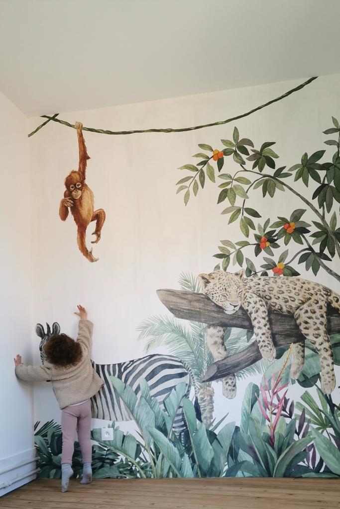 Chambre jungle papier peint - après 05