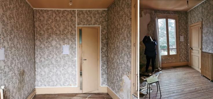 Chambre jungle papier peint - avant 01