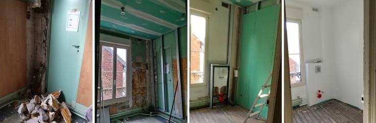 Renovation salle de bain ancienne travaux