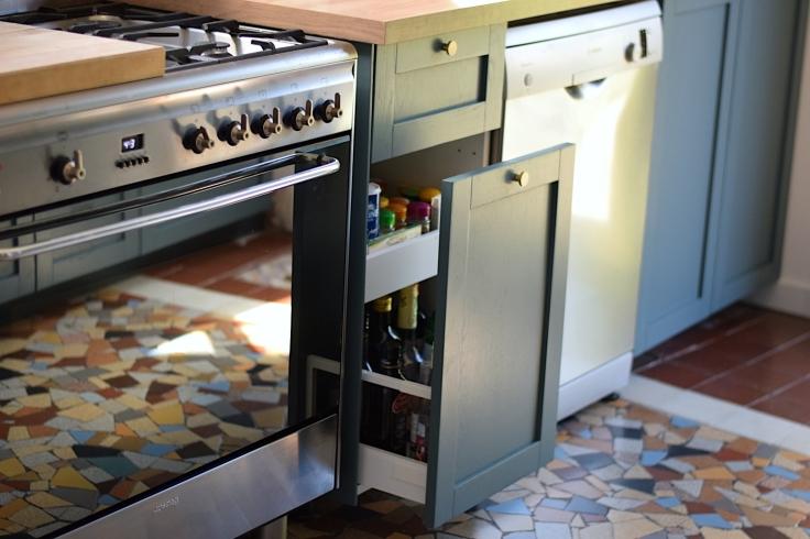 Renovation cuisine ancienne meuble ikea plum kitchen bleu paon 04